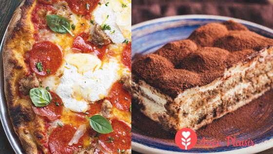 Idées menu sans gluten sans lait / lactose pour la fête des mères - repas italien gourmand