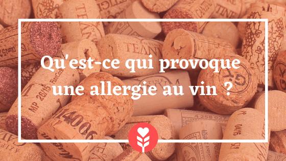Allergie au vin - qu'est-ce qui provoque l'allergie au vin ?