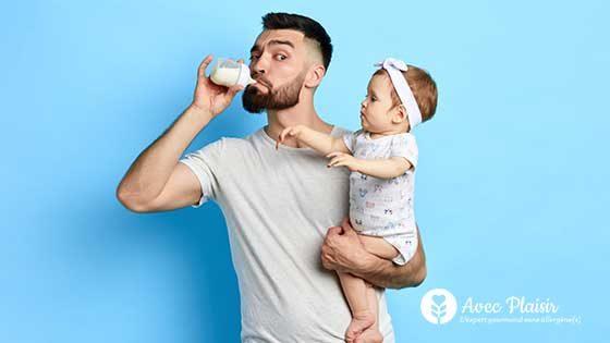 Banner Intolérance au lactose homme et bebe