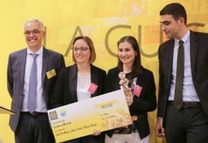 Remise du 1er des trophées Epix d'Or au SIAL, concours organisé par Eurogerm, prix remis par la FEB
