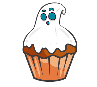 Préparez un goûter terrifiant pour Halloween : testez notre recette de brownie sans gluten et sans lactose avec en topping, un fantôme ou un chapeau de sorcière !