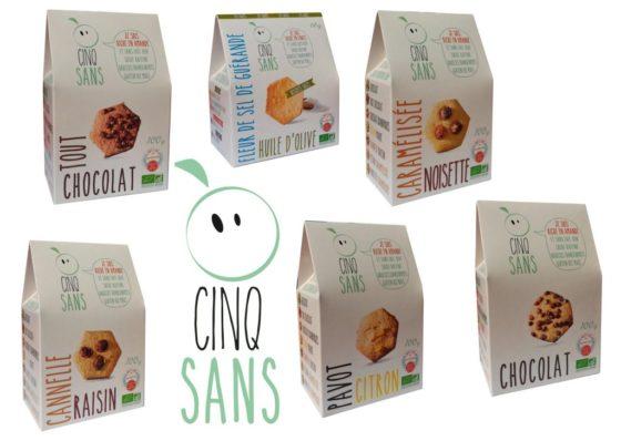 Cinq Sans, les biscuits gourmands sans allergènes de Marie Garcia