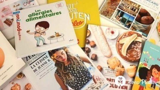 Bibliothèque : Notre sélection de livres sans gluten, sans lait...