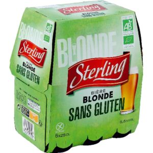 Sélection de Bière sans gluten - Sterling blonde Auchan