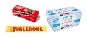 Chocolats sans allergènes (sans gluten, sans lait, sans soja et cie) : notre sélection - 2019 Mon Chéri Lindt Toblerone