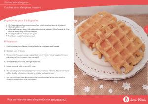 10 recettes sans allergènes dans un ebook gratuit - extrait gaufre