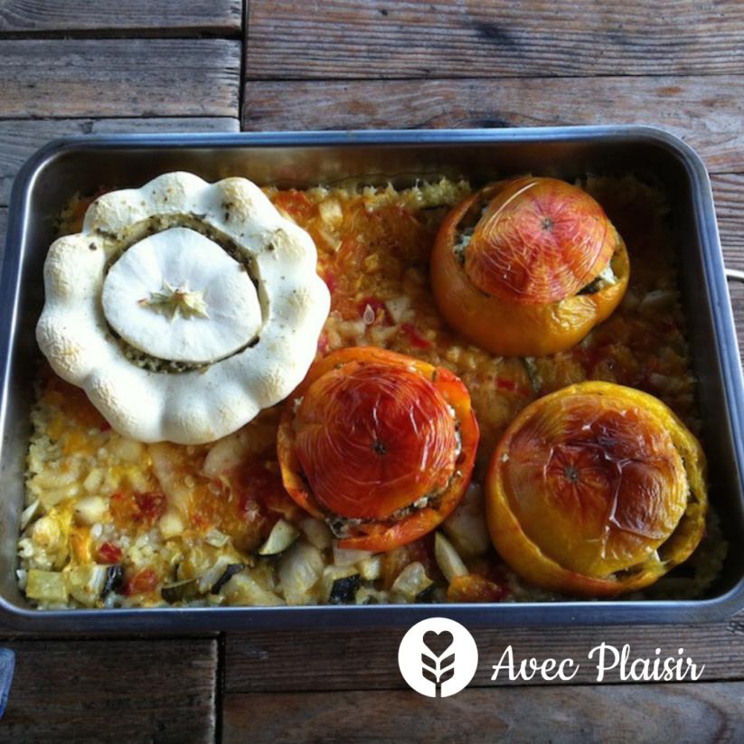 La Vie Au Grand Vert : une maison d'hôte végétarienne - repas