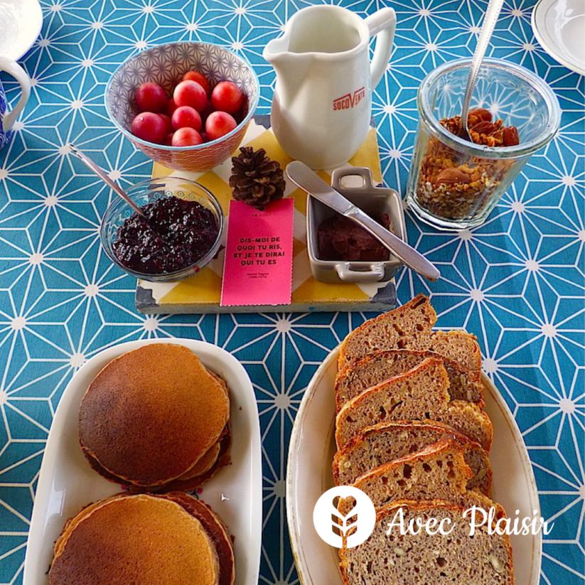 La Vie Au Grand Vert : une maison d'hôte végétarienne - Le petit-déjeuner