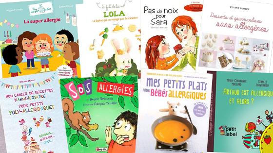 Livre d'informations, contes et livres de recettes pour enfants allergiques