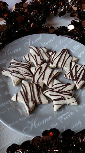Noël - Sablés à la noisette sans gluten sans lait sans oeuf - chocolat