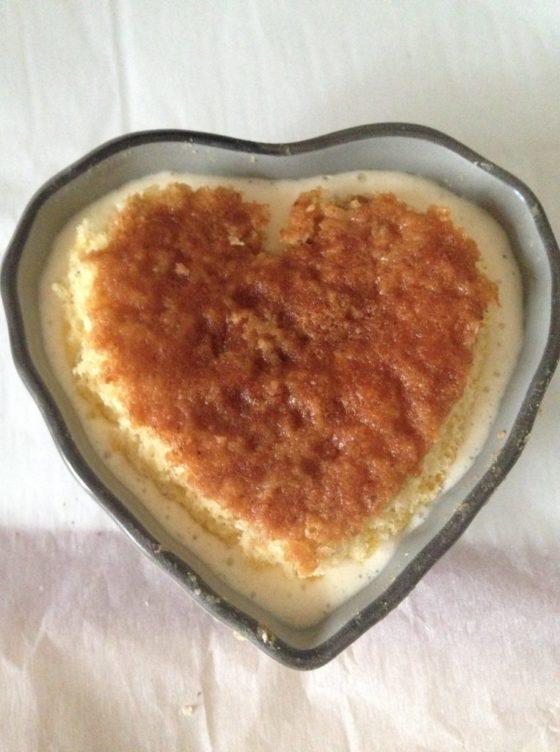Recette spéciale saint valentin tiramisu sans allergènes coeur - cuisson