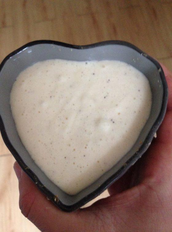 Recette spéciale Saint Valentin un tiramisu sans allergènes - moule