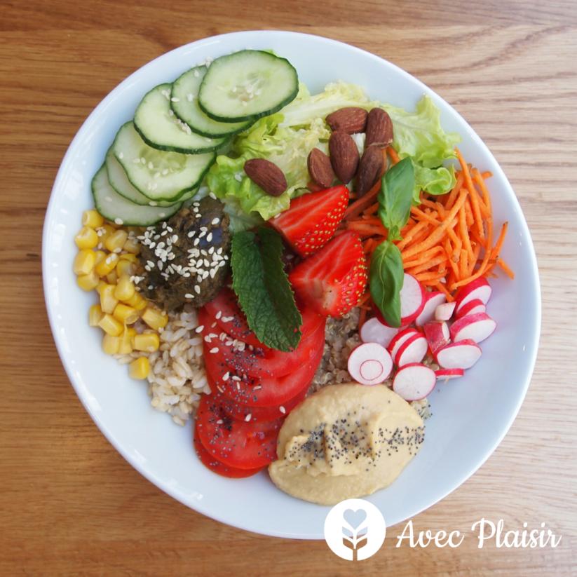Soeurs : un restaurant végétarien avec des options sans gluten-lait-oeuf - Buddha Bowl