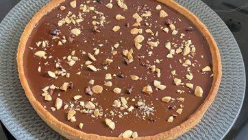 Tarte au chocolat sans gluten et vegan (sans lait, sans oeuf