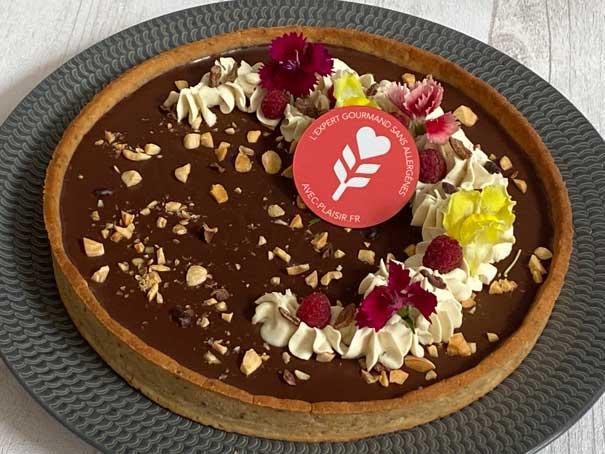 Tarte au chocolat sans gluten et vegan (sans lait, sans oeuf) - Avec Plaisir