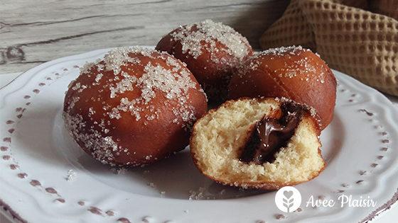 Des beignets moelleux chocolat sans allergènes : sans gluten, sans lait, sans oeuf