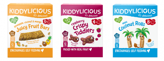Biscuit sans lait pour le goûter de bébé APLV : Kiddylicious 9 - 12 mois +