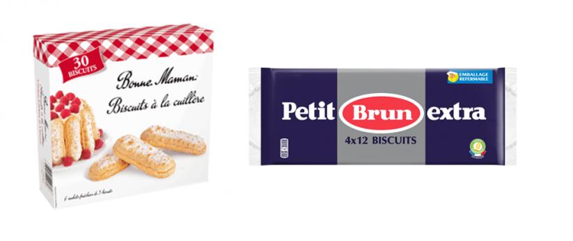 Biscuit sans lait pour le goûter de bébé APLV : Bonne Maman & Petit Brun Extra