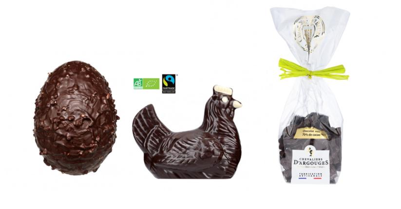 Chocolats de Pâques sans allergènes notre sélection 2021 - Chevaliers d'Argouges sans gluten sans lait sans fruits à coque sans arachides