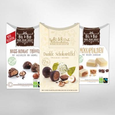 Chocolats de Noël sans allergènes : Bel & Bio, des chocolats belge sans gluten, sans arachides