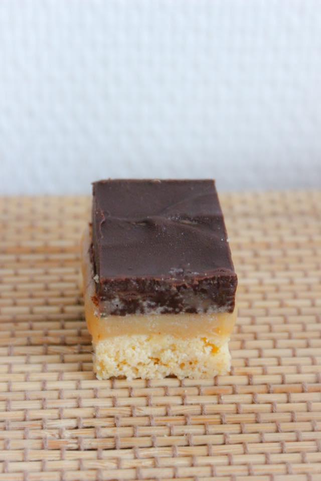 Délices au caramel sans gluten - bouchée
