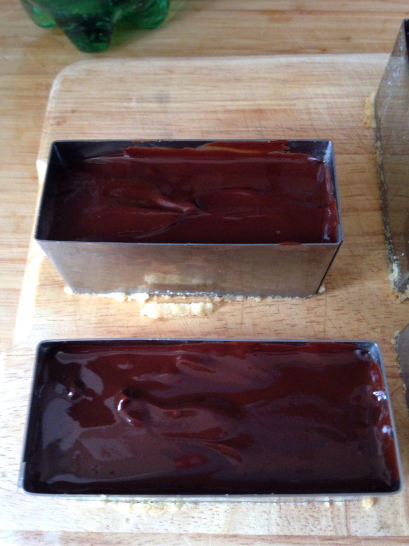 Délices au caramel sans gluten - étape 3 chocolat