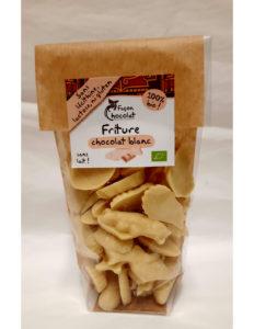 Fritures chocolat blanc sans lait paques 2021 Facon chocolat