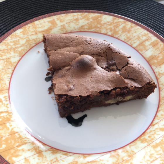 Un fondant chocolat et banane, sans gluten et sans lactose