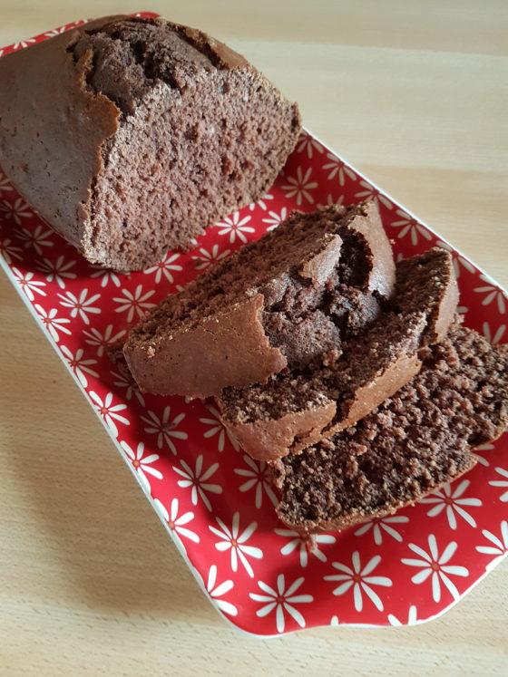 Gâteau tout chocolat sans allergènes majeurs : sans gluten, sans lait, sans oeuf, sans soja...
