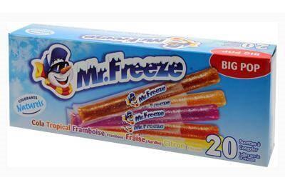 Glaces sans allergènes - Mr Freeze
