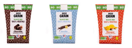 Glaces sans allergènes - Petit Grain sans gluten, sans lait, sans soja au lait de riz