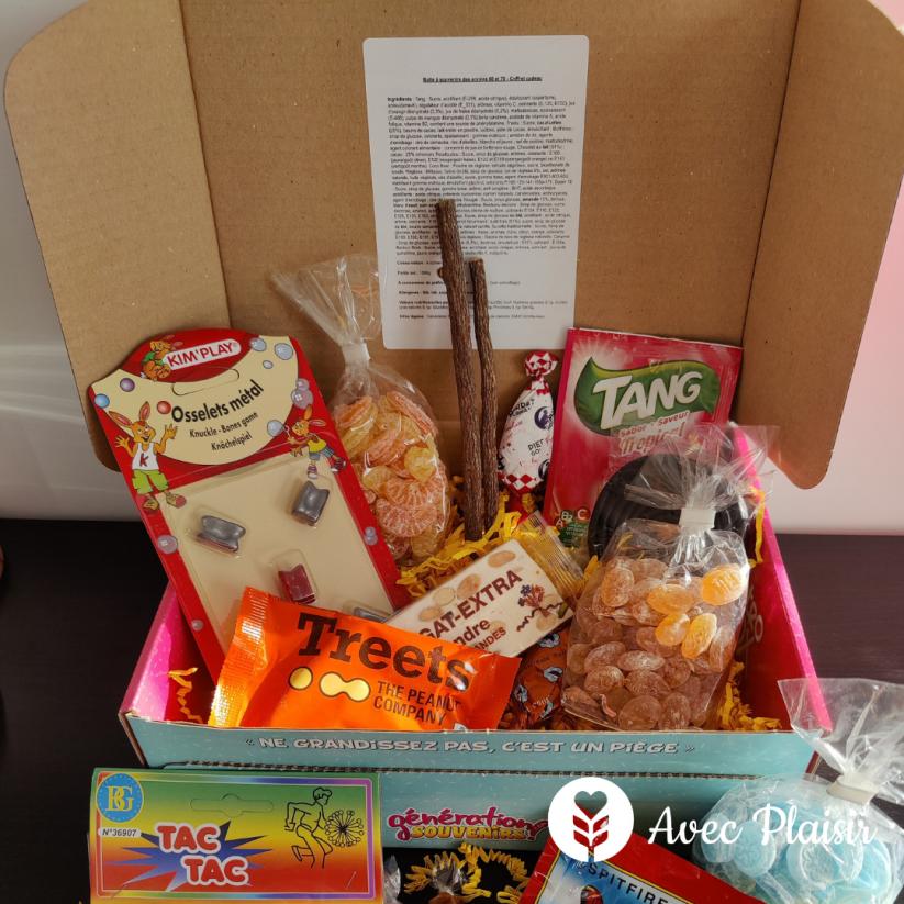 Idée cadeaux fête des grands-pères : une box rétro de bonbons et de souvenirs