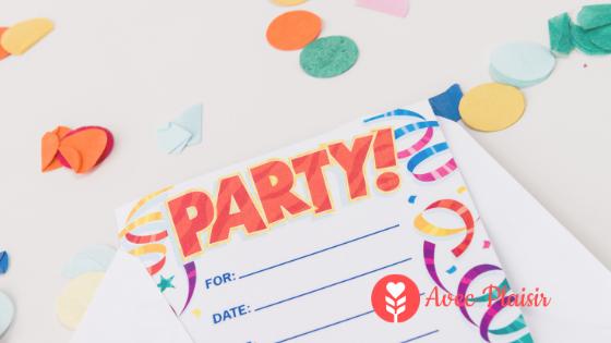 Organiser un goûter d'anniversaire sans allergènes - Cartons d'invitation pour une fête sans allergènes