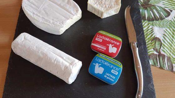 Lactolérance plateau de fromages et produits - complément lactase