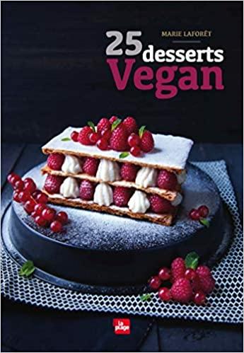 Livre - 25 desserts vegan - Marie Laforet - La Plage