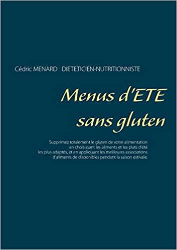 Livre - Menu d'été sans gluten - Cédric Menard