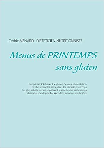 Livre - menu de printemps sans gluten - Cédric Menard