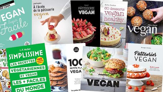 Livres de recettes vegan - sans produits laitiers ni d'origine animale : sans oeuf, poisson, viande