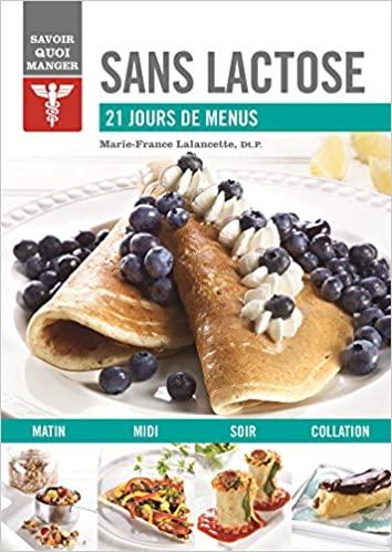 Livre - Sans lactose 21 jours de menu