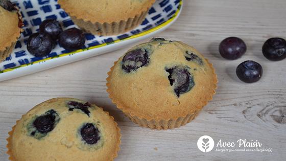 Muffins aux cassis sans allergènes : sans gluten, sans lait / lactose, sans oeuf