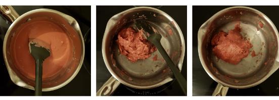 La pâte à modeler sans allergènes, sans gluten et comestible - étapes de cuisson