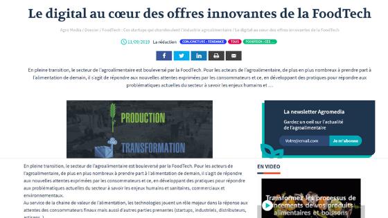Avec Plaisir, citée parmi les startups de la FoodTech, qui chamboulent l'industrie agroalimentaire de demain !