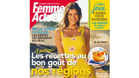 Revue de presse : Femme Actuelle 12 août 2019