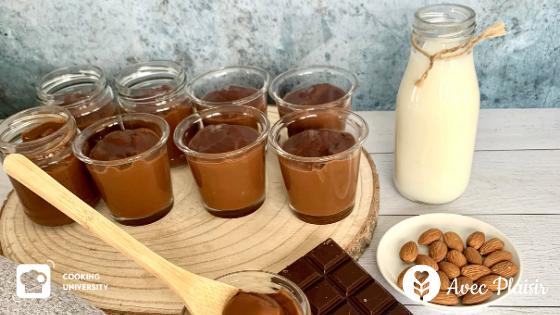 Crèmes desserts intense chocolat sans gluten sans lait ni lactose sans oeuf - vegan