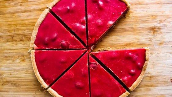 Tarte aux pralines roses sans gluten (option sans lactose)