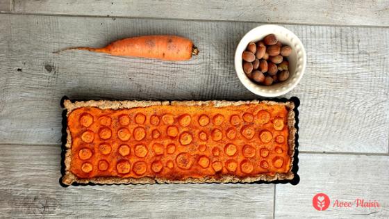 Tarte à la carotte sans gluten sans lait / lactose aux saveurs de noisette - Louise Inspiration Sans Gluten