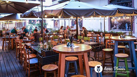 Manger sans allergènes en terrasse en France : sans gluten, sans lactose...
